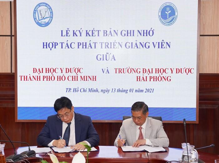 Ký kết hợp tác Phát triển Giảng viên ĐHYD TPHCM và Trường ĐHYD Hải Phòng